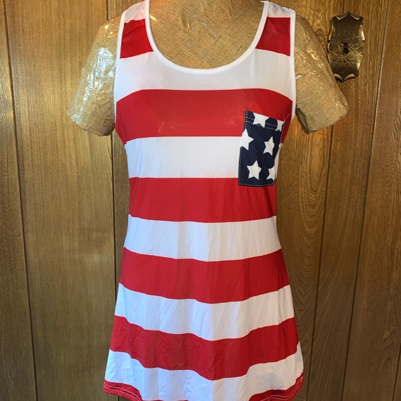 Lucky Dresses & Skirts - Patriotic Lightweight Cover up or dress